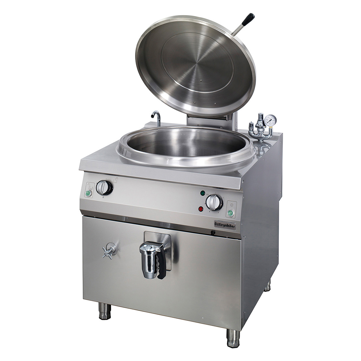 Electric Cylindrical Boiling Pan 100 Lt Indirect Heat